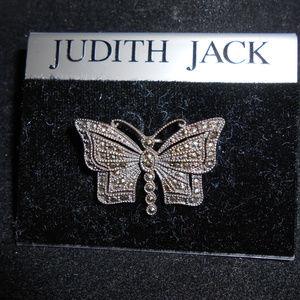 Judith Jack Marcasite Butterfly Brooch